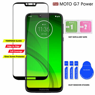 Moto G7 Power TPU Leather Case Cover Tempered Glass Screen Protector Slim Skin 3