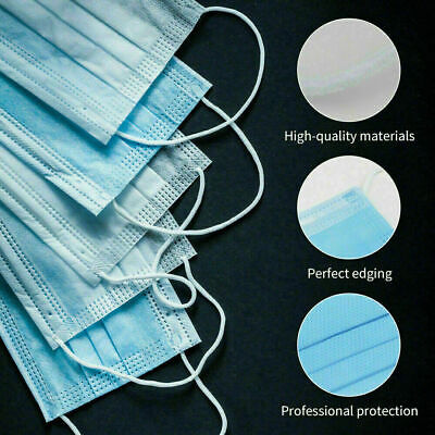 5 PCS Face Mask Medical Surgical Dental Disposable 3-Ply Ear-loop Mouth Cover 3