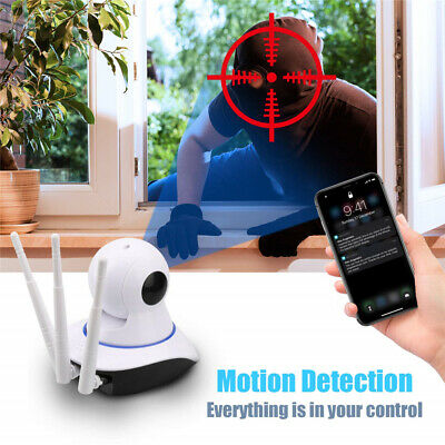 1080P WIFI IP Camera WHITE Wireless Outdoor CCTV HD Home Security IR Cam 2Mp 8