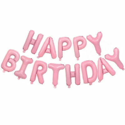 Happy Birthday Balloon Banner Bunting Self Inflating Letters Foil Balloons Party 7