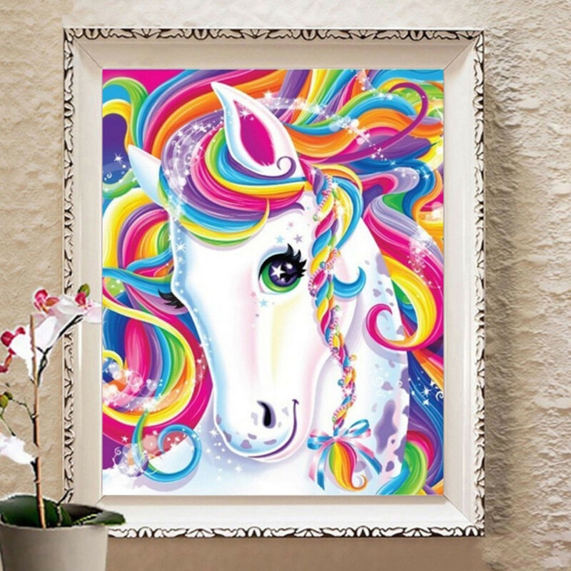 UK Unicorn Horse 5D Diamond Painting Embroidery Cross Craft Stitch Pictures Kits