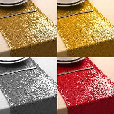 12 X118 Sequin Table Runner Sparkly Wedding Banquet Party Birthday