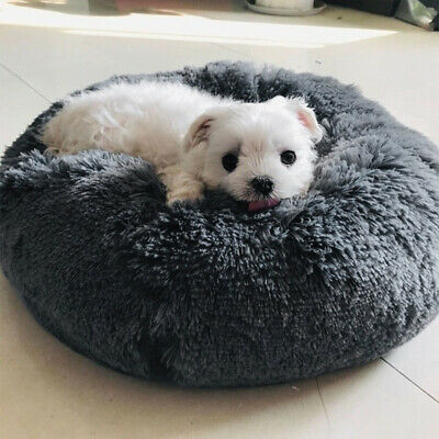 UK Comfy Calming Dog/Cat Bed Round Super Soft Plush Pet Bed Marshmallow Cat Bed 6