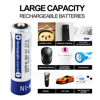 OZ 4-20X BTY AA Rechargeable Battery Recharge Batteries 1.2V 3000mAh Ni-MH 7