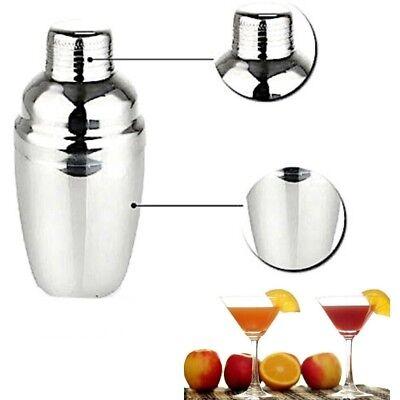Shaker Cocktail Metallo 250 530 750Ml Miscelatore Alcool Barman Mixer Filtro Bar 6