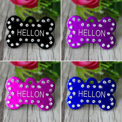 Engraved Pet Dog Tags Custom Cat ID Name Tags for Pets Personalized FREE S M L 2