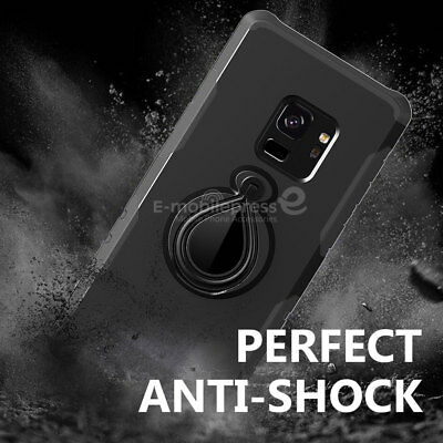 For Samsung Galaxy S9/S8/Plus/Note 9 8 Case Ring Holder Shockproof Armor Cover