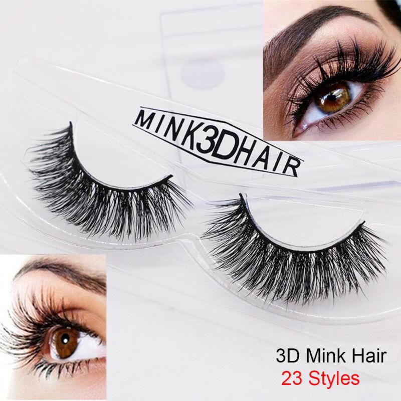 1 Pair 3D Mink Lashes False Eyelashes Long Lasting Lashes Natural Lightweight 6