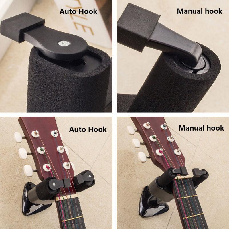 New Guitar Wall Hangers with Lifetime Warranty Mount Holder Hook Brackets Hanger