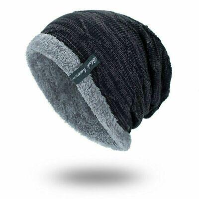 Spikerking Men's Soft Lined Thick Knit Skull Cap Warm Winter Slouchy Beanies Hat 8