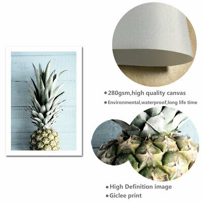 Pineapple Ocean Beach Canvas Poster Seascape Print Tropical Decoration Picture 7