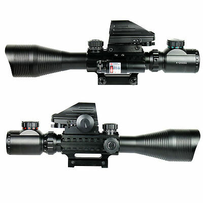 4-12X50 EG Tactical Rifle Scope with Holographic 4 Reticle Sight & Red Laser JG8 2