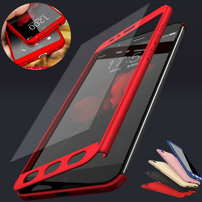 For Xiaomi Redmi 7 6A 5 4X Note 7 6 5 Pro 360° Full Cover Case + Tempered Glass 2