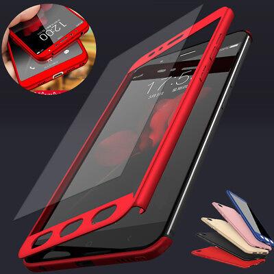 For Xiaomi Redmi 7 7A 6A 5 Note 7 6 5 Pro 360° Full Cover Case + Tempered Glass 2