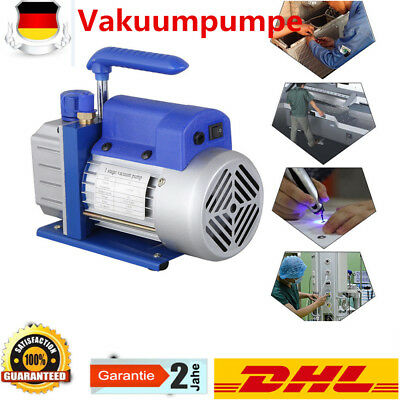 DE Single Stage Vacuum Pump 2.5CFM 1/4HP 5Pa Rotary Vane AC Black New Deep HVAC 2