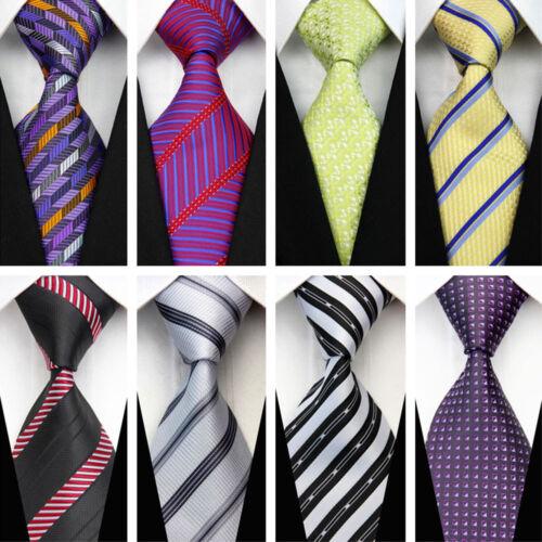Blue Grey Black Red White Purple Wedding Stripe Plaid Dots Necktie Silk Mens Tie 12