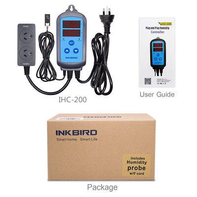 AU PLUG 240V Digital Temperature Controller + Humidity control ITC-308 +IHC-200 12