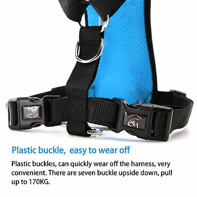 Breathable Air Mesh Dog Car Harness for Small Large Dogs Travel Seat belt Clip 8