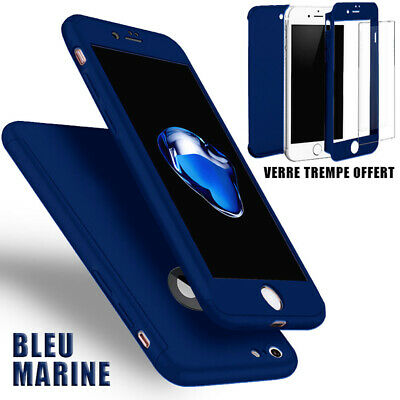 Coque Etui 360 Intégrale Pour IPHONE X/8/7/6 XR XS MAX + Film Verre trempé écran 11