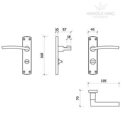 Modern Door Handles on Backplate - Satin Chrome Door Handles