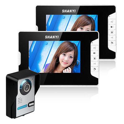 Video Gegensprechanlage Türsprechanlage Kamera 2x Monitor Klingel Sprechanlage D 4