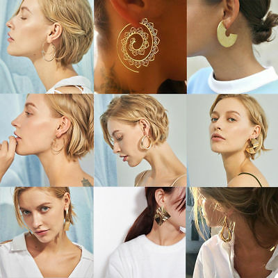 Fashion Statement Metal Geometric For Women Boho Dangle Earrings Modern Jewelry 10