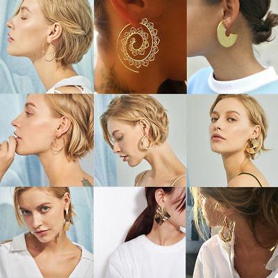 Fashion Women Metal Geometric Pendant Dangle Drop Statement Earrings Jewelry 11