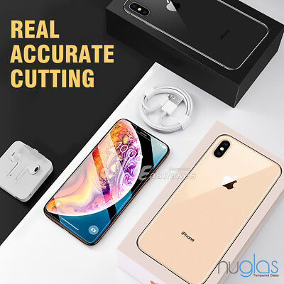 2x Apple iPhone X XS Max XR GENUINE NUGLAS Tempered Glass Screen Protector Film 3