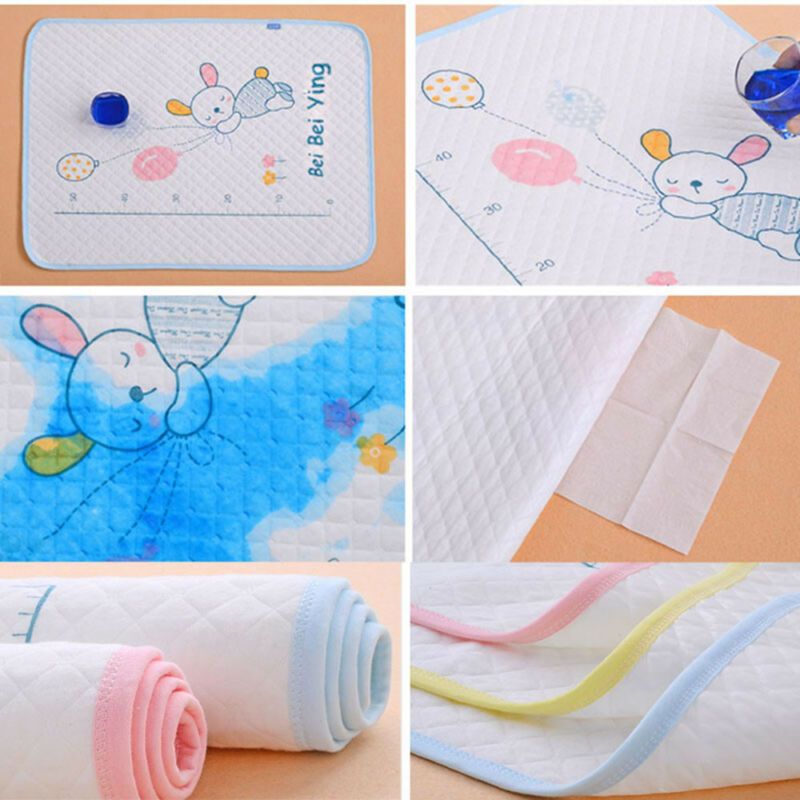 Cotton Baby Infant Waterproof Pad Bed Sheets Changing Mat Babys Urine Pad 4