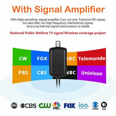 [980 Miles] Clear Indoor Digital TV HDTV Antenna [2019 Latest] UHF/VHF/1080p 4K 2