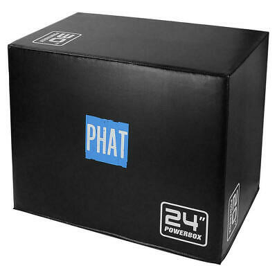 "PHAT® Fitness 3in1 Foam Jumping Box Plyometric Box for Jump Training 20"" 24"" 30"" 10"