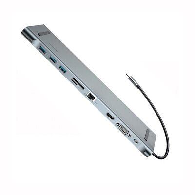USB Type C 3.1 Docking Station HUB VGA HDMI Video Converter Giga Lan Card Reader 2