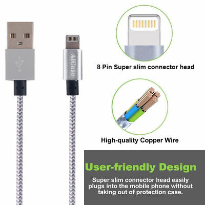 Certified Apple Lightning Cable 3 - 10 FT MFi USB Charger f iPhone 7 6s 6 8 Plus 10