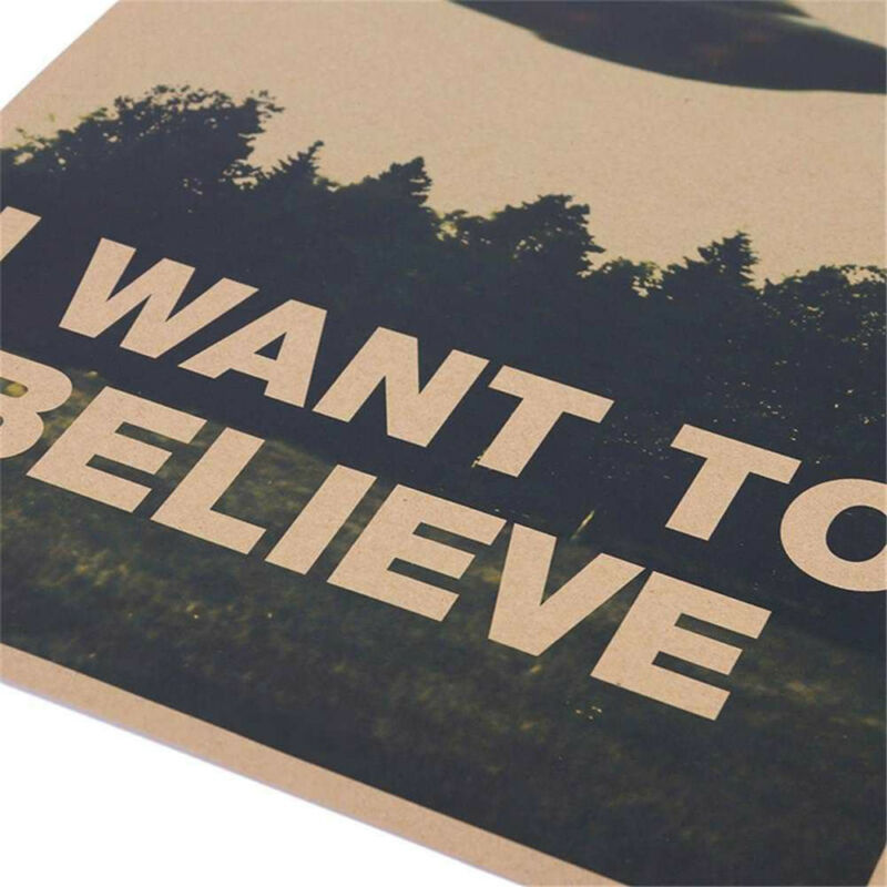 "HOT Vintage Classic X FILES ""I Want To Believe"" Poster Home Decor Wall Stickers 7"