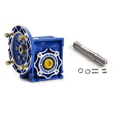 Worm Gear Reducer Speed Ratio 10:1 15:1 30:1 NMRV030 56B14 for Stepper Motor 6