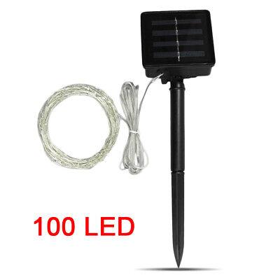 10M 20M Long LED Solar String Lights Waterproof Copper Wire Fairy Outdoor Garden 8