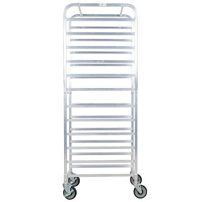 Restaurant Food Service Business Industrial 12 Pan Aluminum End Load Bakery Bun Sheet Pan Speed Rack