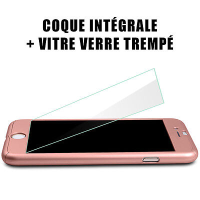 Coque Housse Total 360 Iphone 6 6S 7 8 5 Xr Xs Max Protection Vitre Verre Trempe 11