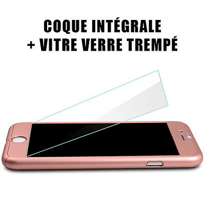 Coque Integral 360 Iphone 6 7 8 5 X Xr Xs Max Vitre Verre Trempe Protection 10