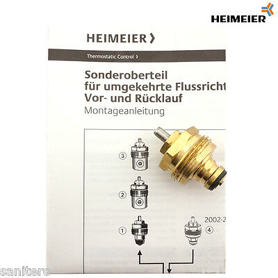 Heimeier thermostat sonderoberteil f r vertauschten vor for Heimeier italia