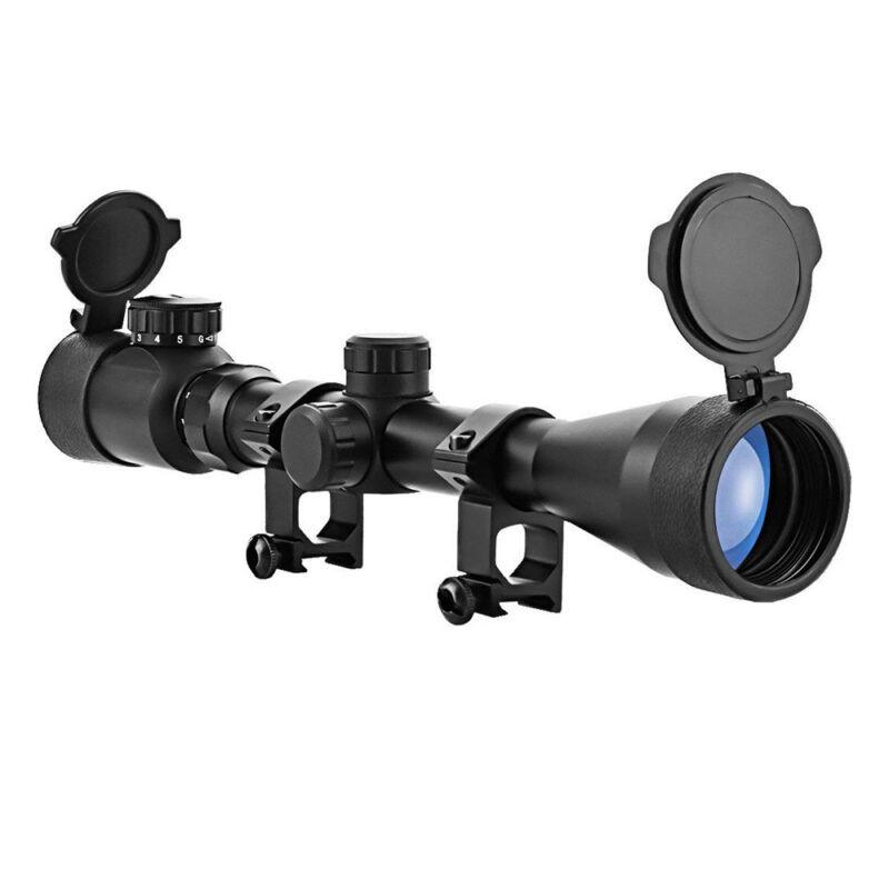 Rifle Scope Mil-Dot Illuminated Red & Green 3-9X40 E Optics Hunting Air Sniper 10