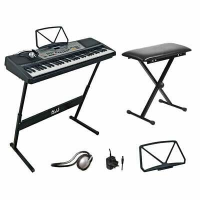 61 Key Full Size Digital Electronic Keyboard Kit Inc Stand, Stool and Headphones 4