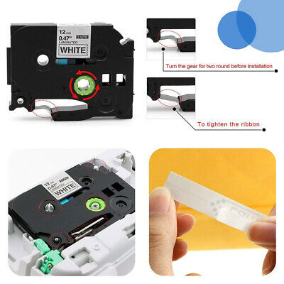Compatible Label Tape TZe-231 for Brother P-touch Printer 12mm 8m Black on White 2