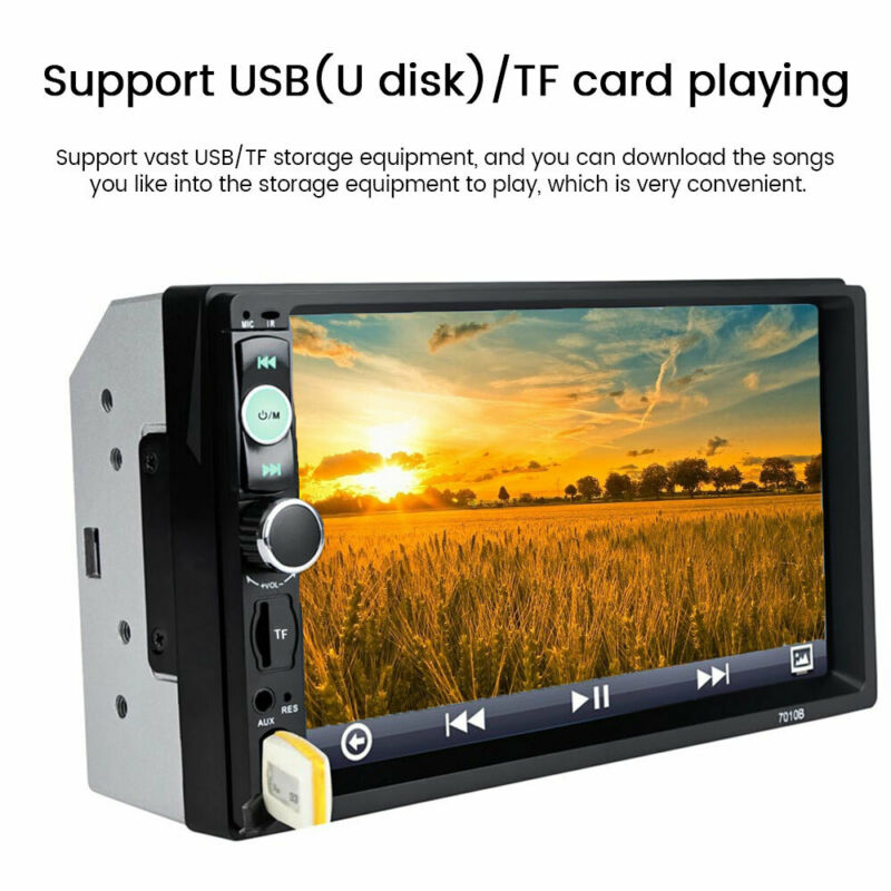 """7"""" Double DIN Car FM Stereo Radio MP5/3  Player Touch Screen Bluetooth+Camera 6"""