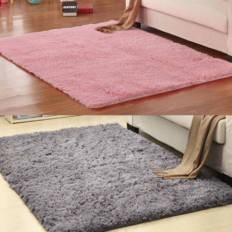 Fluffy Rugs Anti-Skids Shaggy Area Rug Dining Rooms CarpetFloor Mat HomeBedrooms 8