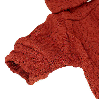 Knitted Dog Sweater Chihuahua Clothes Winter Knitwear Pet Puppy Jumper Red Black 6