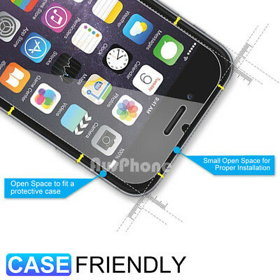 2x iPhone 8 Plus 7 Anti Scratch Resist Tempered Glass Screen Protector for Apple 2