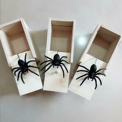 Funny Wooden Prank Spider Scare Box Hidden in Case Trick Play Joke Gag Toys UK 2