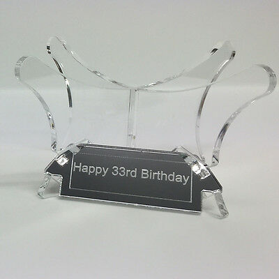Football Display Stand / Riser Plinth, PERSPEX (WITH FREE INSCRIPTION PLAQUE) 3