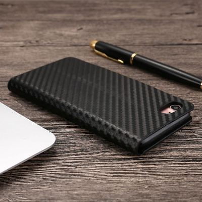 Magnetic Carbon Leather Flip Wallet Phone Case Cover for Apple iPhone X 8 7 6 5s 5